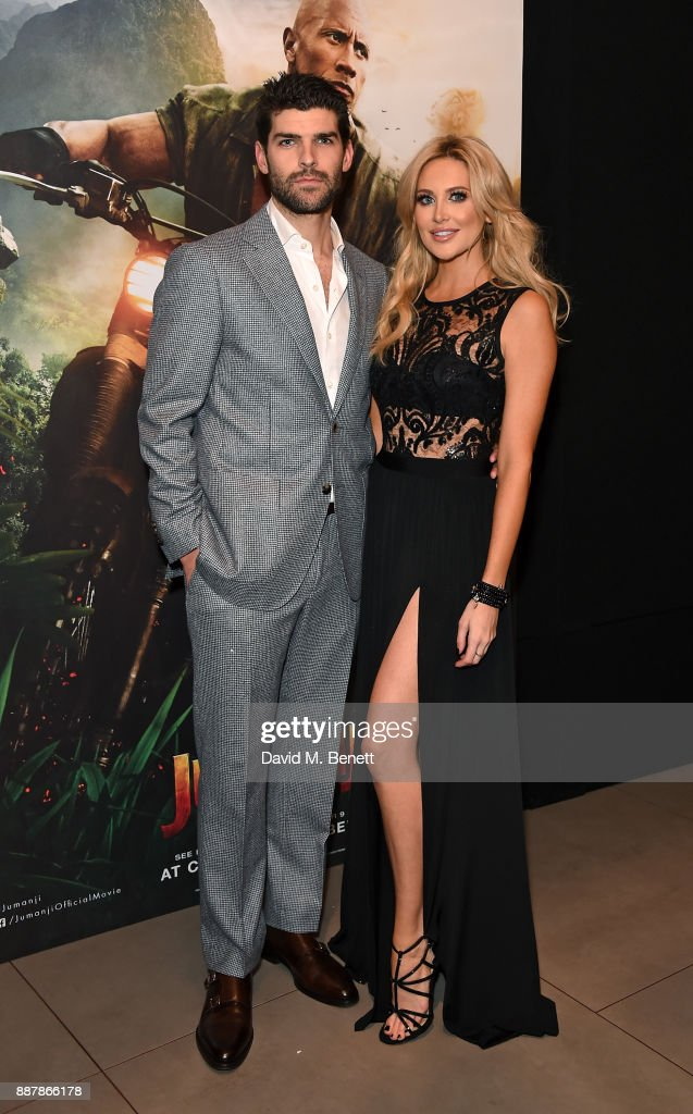 Guest and Stephanie Pratt attend the UK Premiere of 'Jumanji: Welcome To The Jungle' at Vue West End on December 7, 2017 in London, England.
