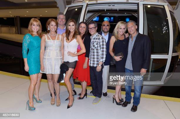 A guest and television personality Jill Zarin Perter Dobias comedian Heather McDonald television personality Jenni Pulos Nassos and her husband Dr...