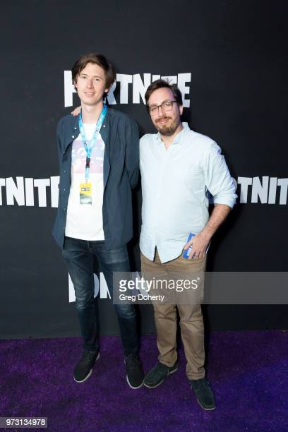 Guest and Travis Gafford attend the Epic Games Hosts Fortnite Party Royale on June 12 2018 in Los Angeles California