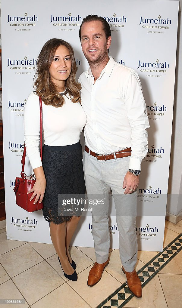 Guest and Xavier Malisse at the Champions Tennis players' party at Jumeirah Carlton Tower on December 3, 2015 in London, England.