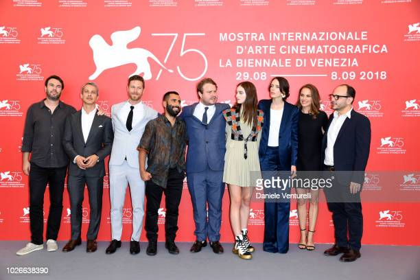 Guest, Andrew Lauren, D.J. Gugenheim, David Hinojosa, Brady Corbet, Raffey Cassidy, Stacy Martin and Natalie Portman and Robert Salerno attends 'Vox...