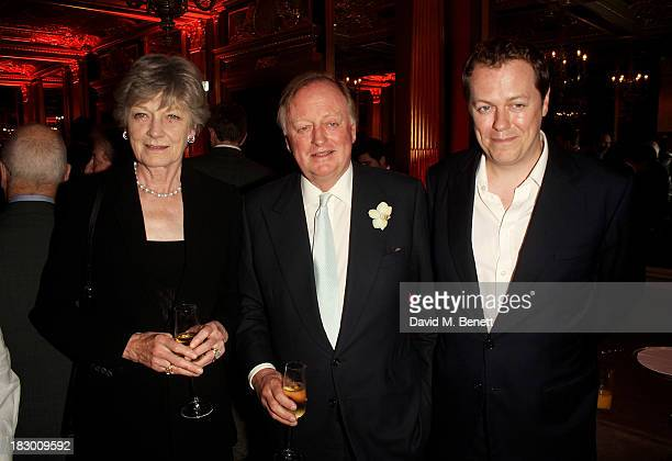 Guest Andrew Parker Bowles and Tom Parker Bowles attend the launch of Geordie Greig's new book Breakfast With Lucian on October 3 2013 in London...