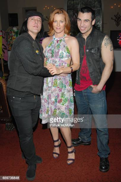 Guest Angela Featherstone and guest attend Mauricio and Roger Padilha's The Stephen Sprouse Book Launch at The Chateau Marmont on March 10 2009 in...