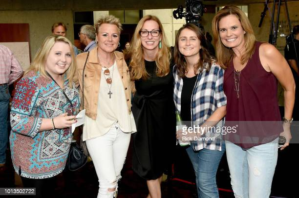 Guest Anita Cochran Lisa Purcell Erin Enderlin and Suzanne Alexander attend the new exhibition debut The Judds Dream Chasers at The Country Music...