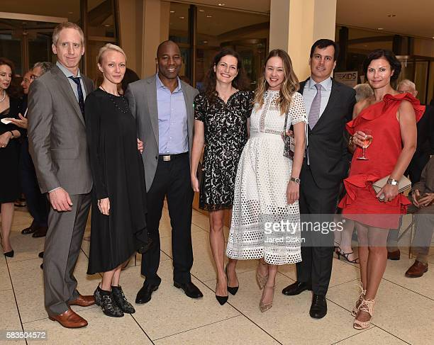 Guest Anna Thompson Donnovan Andrews Ivana Delevska Anna Nikolayevsky Guest and Anna Andreeva attend Mostly Mozart Festival Opening Night Gala...