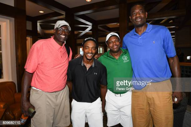 Guest Anthony Mackie Chris Tucker and Dikembe Mutumbo at Chris Tucker Foundation Celebrity Golf Tournament at Stone Mountain Golf Club on August 26...