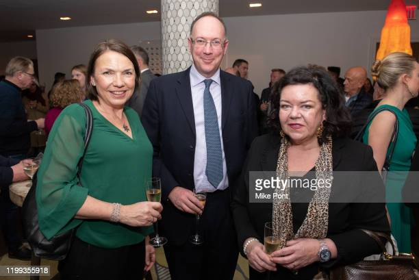 Guest Anthony Phillipson and HE Dame Karen Pierce attend the Seven Worlds One Planet Screening at Crosby Hotel on January 13 2020 in New York City