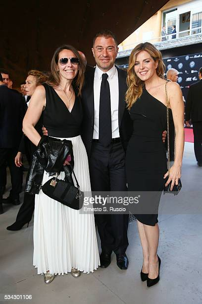 Guest Antonio Rossi and Elisabetta Pellini attend Bocelli and Zanetti Night on May 25 2016 in Rho Italy