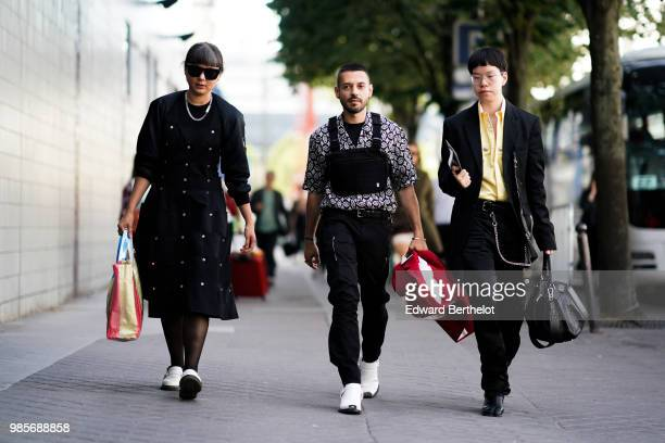 Guest are seen outside 1017 ALYX 9SM during Paris Fashion Week Menswear SpringSummer 2019 on June 24 2018 in Paris France