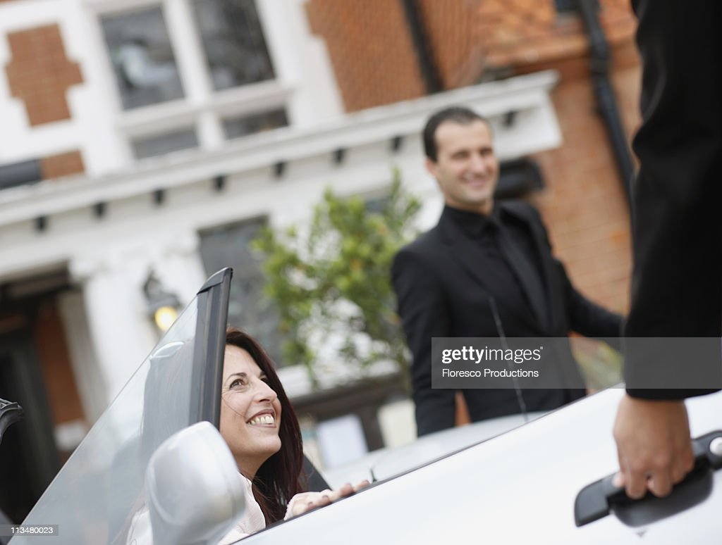 Guest arrival : Stock Photo