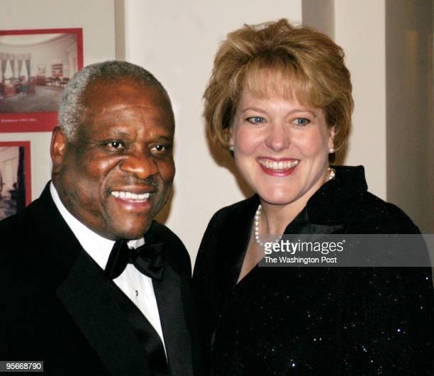 Guest arrivals: Supreme Court Justice Clarence Thomas and wife Virginia.