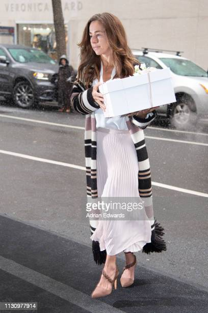 Guest arrive at Meghan Markle's baby shower on February 20 2019 in New York City