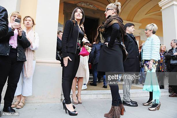 Guest arrive at Sanctuary of Madonna di Montenero before the wedding of Italian singer Andrea Bocelli with Veronica Berti on March 21 2014 in Livorno...