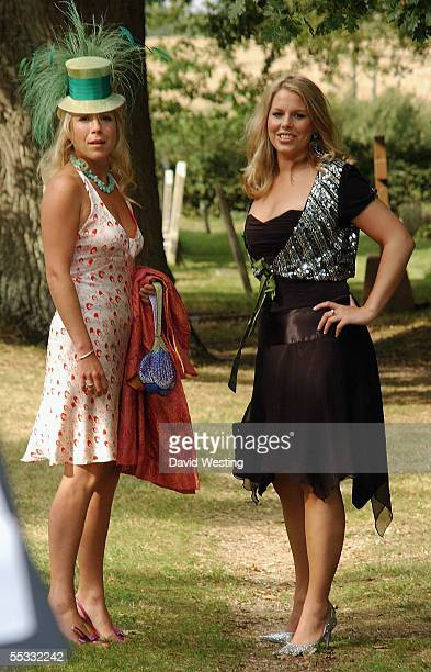 Guest arrive for the wedding of model Jodie Kidd and internet tychoon Aidan Butler at St Peter's Church on September 10 2005 in Twineham West Sussex...