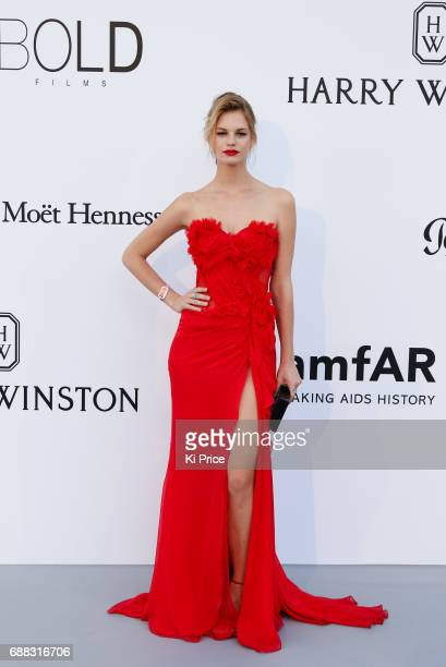 Guest arrives at the amfAR Gala Cannes 2017 at Hotel du CapEdenRoc on May 25 2017 in Cap d'Antibes France