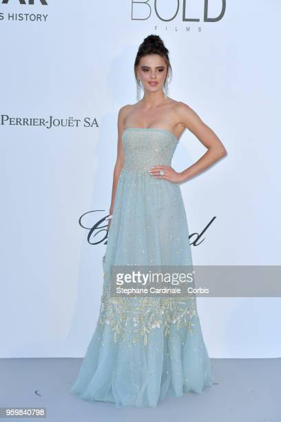 Guest arrives at the amfAR Gala Cannes 2018 at Hotel du CapEdenRoc on May 17 2018 in Cap d'Antibes France