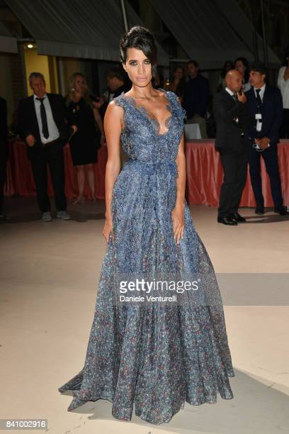 A guest arrives at the dinner after the Opening Ceremony during the 74th Venice Film Festival at Excelsior Hotel on August 30 2017 in Venice Italy