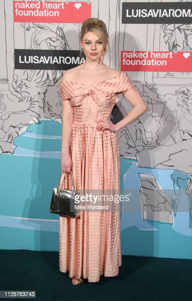 Guest arrives at the Fabulous Fund Fair event during London Fashion Week February 2019 at the The Roundhouse on February 18 2019 in London England