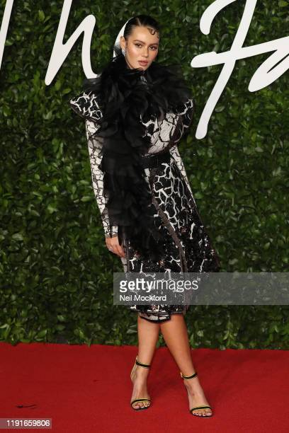Guest arrives at The Fashion Awards 2019 held at Royal Albert Hall on December 02 2019 in London England