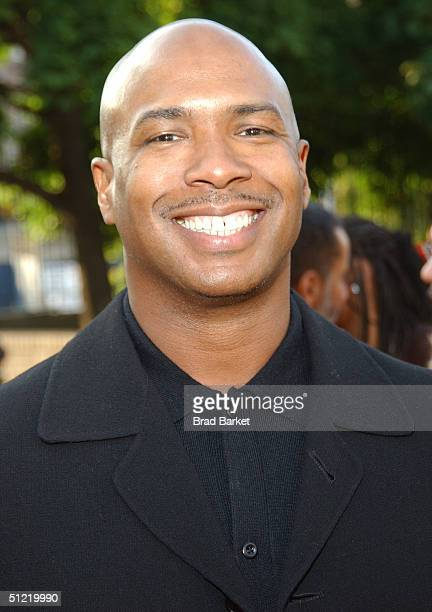 A guest arrives at the National Black Sports and Entertainment Hall of Fame at Aaron Davis Hall on August 25 2004 in New York City