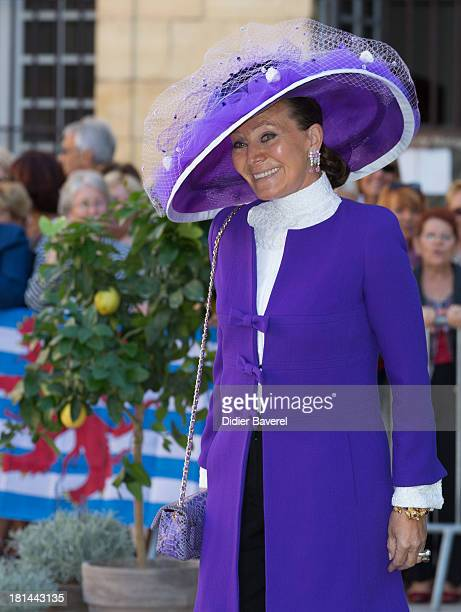 Guest arrives at the religious wedding of Prince Felix of Luxembourg and Claire Lademacher at Basilique Sainte MarieMadeleine on September 21 2013 in...