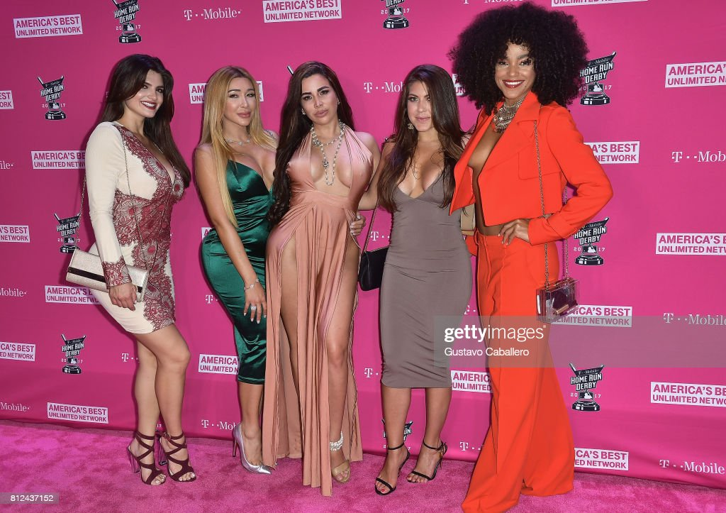 Guest arrives at the T-Mobile Presents Derby After Dark at Faena Forum on uly 10, 2017 in Miami Beach, Florida.