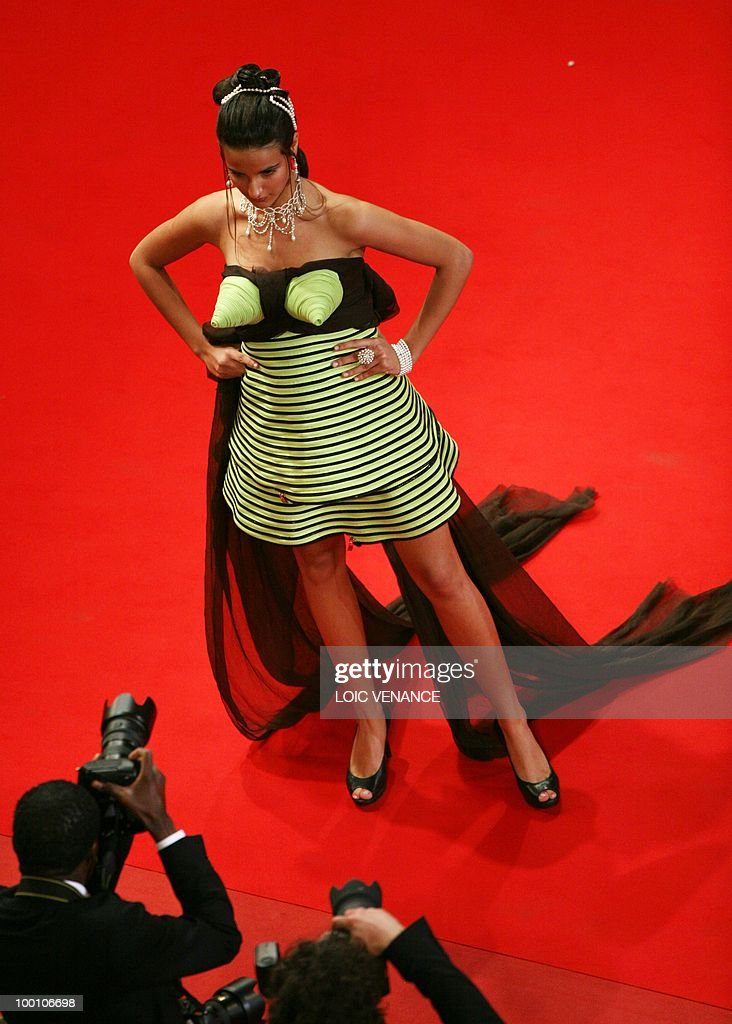 A guest arrives for the screening of 'La Nostra Vita' (Our Life) presented in competition at the 63rd Cannes Film Festival on May 20, 2010 in Cannes.
