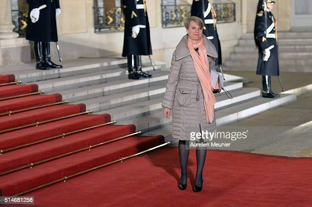 A guest arrives to the state dinner given by French President Francois Hollande in honor of Queen Maxima of the Netherlands and King WillemAlexander...