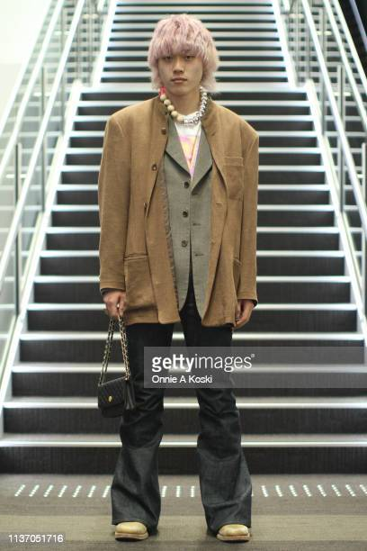 Guest at Amazon Fashion Week TOKYO 2019 A/W on March 20 2019 in Tokyo Japan