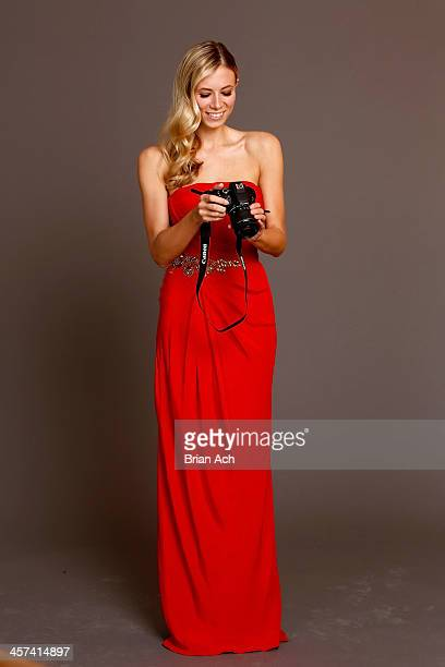A guest at Georgina Chapman's Marchesa studio for Canon's THE BIG MOMENT with the world's smallest and lightest DSLR on December 17 2013 in New York...