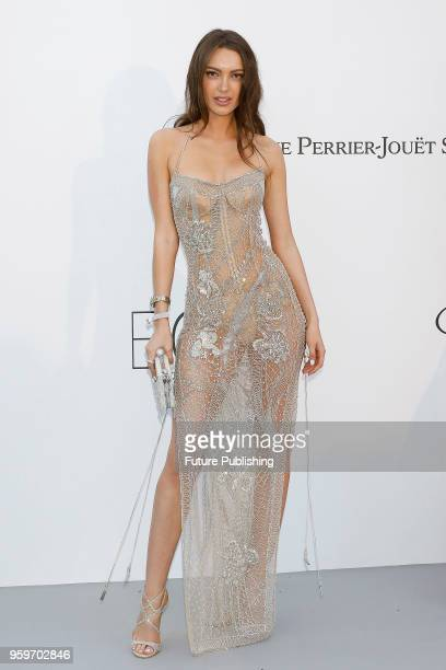 Guest at the amfAR 25th Annual Cinema Against AIDS gala at the Hotel du CapEdenRoc in Cap d'Antibes France during the 71st Cannes Film Festival in...