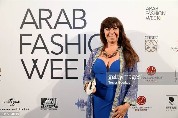 Guest attend the Arab Fashion Week Ready Couture Resort 2018 Gala Dinner on May 202017 at Armani Hotel in Dubai United Arab Emirates