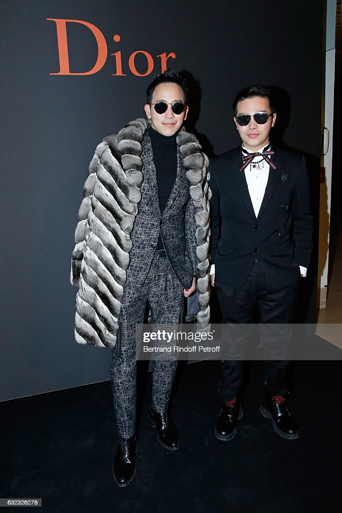 Guest attend the Dior Homme Menswear Fall/Winter 2017-2018 show as part of Paris Fashion Week on January 21, 2017 in Paris, France.