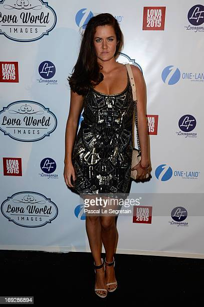 A guest attend the Lova World Images Closing Party during the 66th Annual Cannes Film Festival at Baoli Beach on May 22 2013 in Cannes France