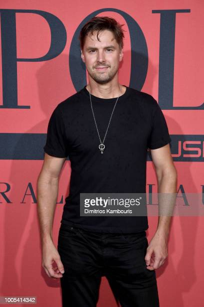A guest attend the Polo Red Rush Launch Party with Ansel Elgort at Classic Car Club Manhattan on July 25 2018 in New York City