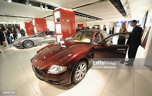Guest attend the US Debut of the Maserati GranTurismo Convertible at Maserati Showroom on October 15 2009 in New York New York