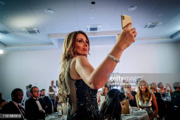 A guest attend the Inaugural 'World Bloggers Awards' during the 72nd annual Cannes Film Festival on May 24 2019 in Cannes France The 'World Bloggers...
