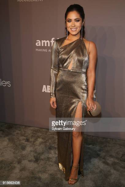 Guest attends 2018 amfAR Gala New York Arrivals at Cipriani Wall Street on February 7 2018 in New York City