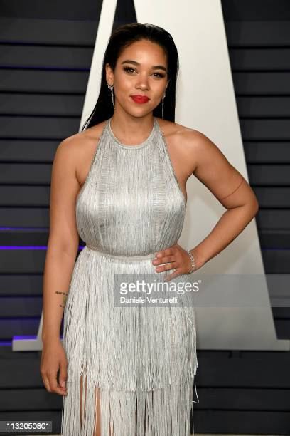 A guest attends 2019 Vanity Fair Oscar Party Hosted By Radhika Jones Arrivals at Wallis Annenberg Center for the Performing Arts on February 24 2019...