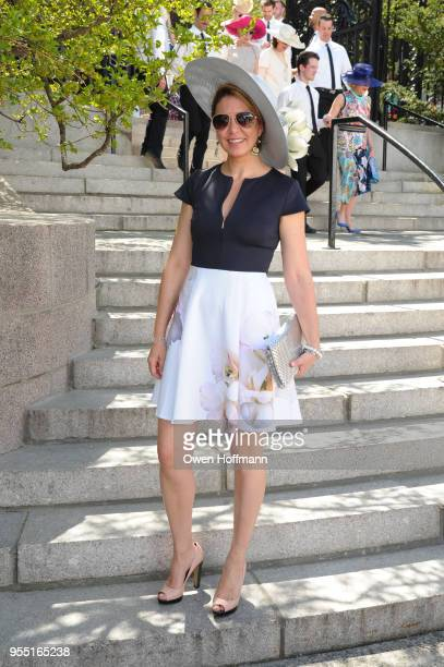 Guest attends 36th Annual Frederick Law Olmsted Awards Luncheon Central Park Conservancy at The Conservatory Garden in Central Park on May 2 2018 in...