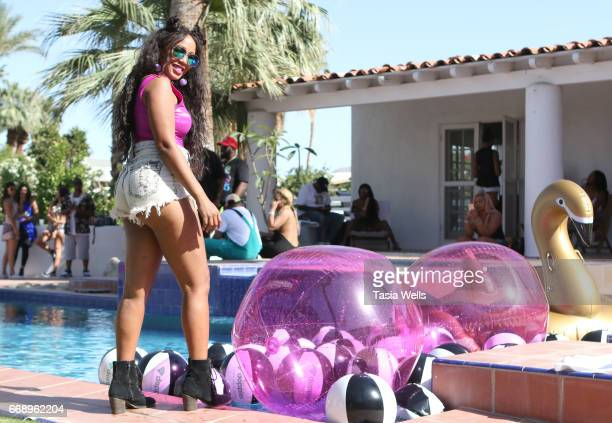 Guest attends 40z and Waffles x Coachella Party on April 15 2017 in Palm Springs California