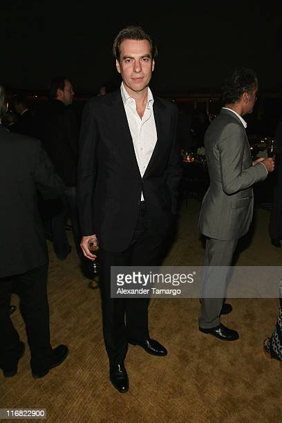 Guest attends a private dinner in honor of Anri Sala at the Cartier Dome Miami Beach Botanical Garden on December 2 2008 in Miami Beach Florida