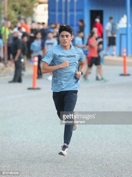Guest attends adidas x Parley 'Run For The Oceans' event harnessing the power of sport and continued fight against the threat of marine plastic...