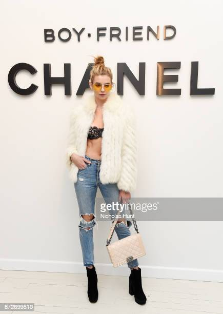 Guest attends as CHANEL celebrates the launch of the Coco Club a BoyFriend Watch event at The Wing Soho on November 10 2017 in New York City