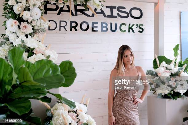 Guest attends as JNSQ Serves Its Rosé Cru And Sauvignon Blanc At The Miami Swim Week Influencer Brunch Hosted By Natasha Oakley And Devin Brugman at...