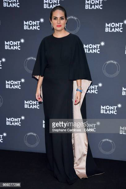 A guest attends as Montblanc launch new collection and dinner hosted by Charlotte Casiraghi during the 71st annual Cannes Film Festival at Villa la...