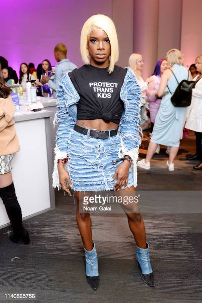 A guest attends Beautycon Festival New York 2019 at Jacob Javits Center on April 06 2019 in New York City