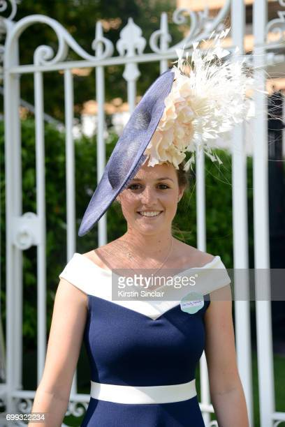 A guest attends day 2 of Royal Ascot at Ascot Racecourse on June 21 2017 in Ascot England