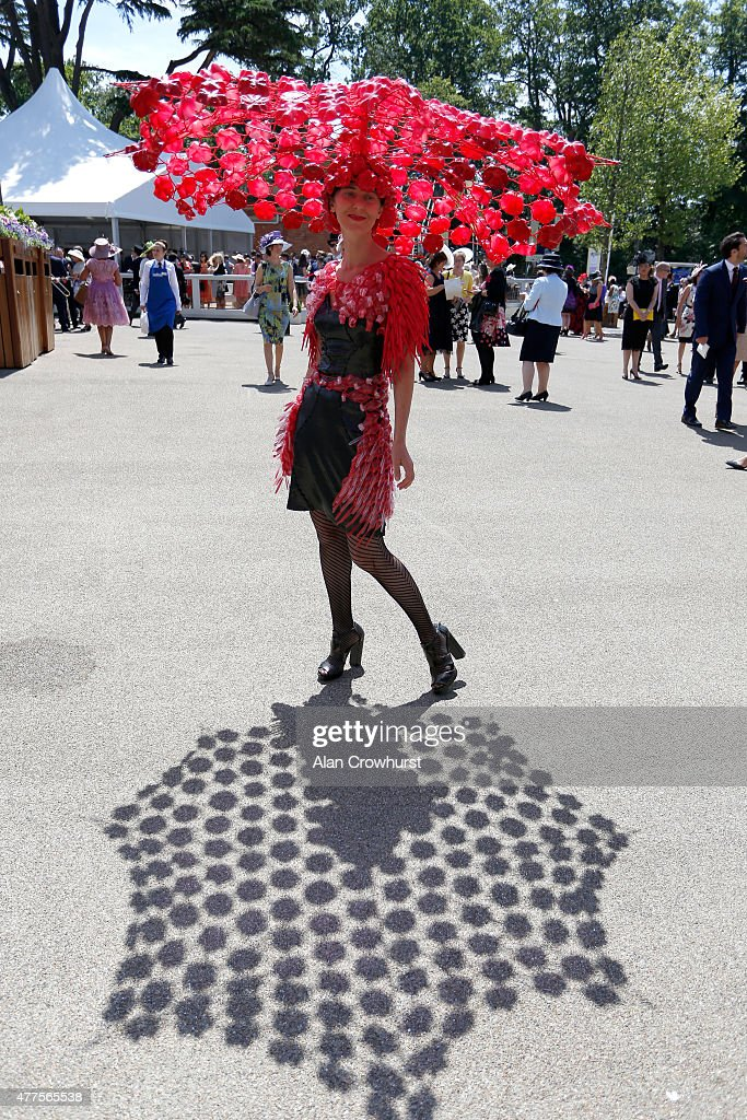 A guest attends day 3 of Royal Ascot 2015 at Ascot racecourse on June 18, 2015 in Ascot, England.