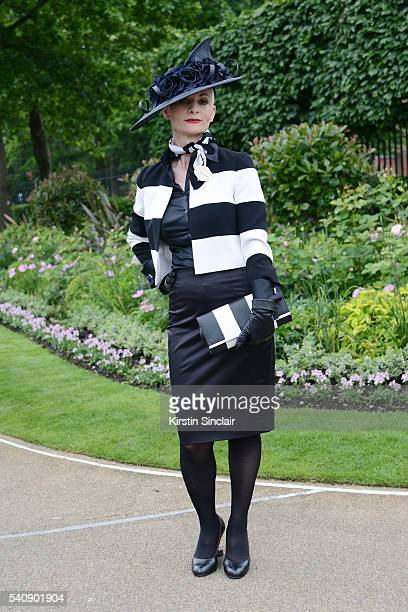 Guest attends day 4 of Royal Ascot at Ascot Racecourse on June 17, 2016 in Ascot, England.